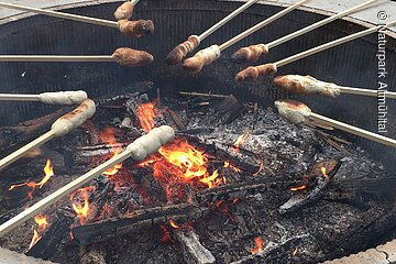 Stockbrotgrillen am Waldcamping Brombach