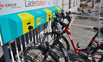 E-Bike-Ladestation am Rathausplatz